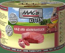 Kalb und Hühnerherzen Kitten