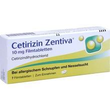 Cetirizin Zentiva 10 mg Filmtabletten 7 St