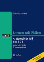 Allgemeiner Teil des BGB | Schwabe, Winfried