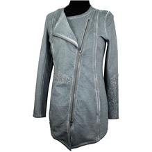 Simclan Damenjacke mit Stickmuster grau