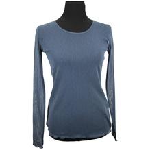 Simclan Baumwollshirt Langarmshirt blau