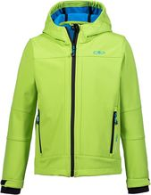 CMP Softshelljacke Fix Hood Boy lime green/river 3A00094