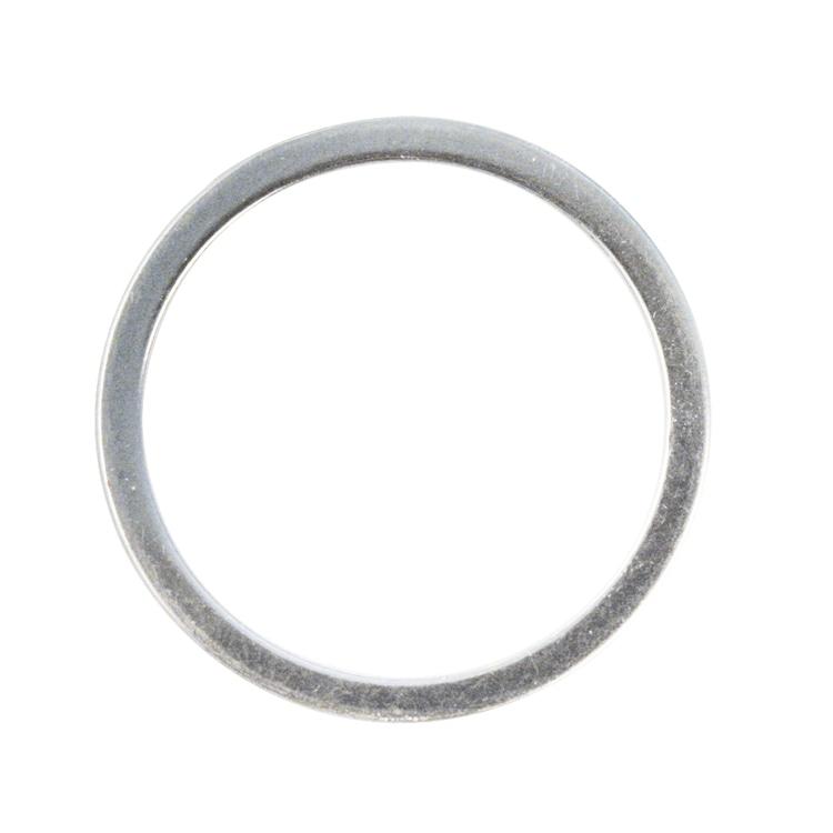 Metall- Schmuckring flach, 15mm ø, SB-Btl 4Stück, silber