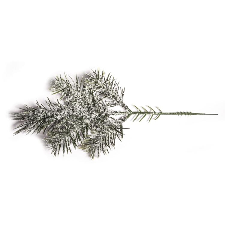 Tannenzweig beschneit, 26cm, 5 Spitzen