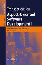 Transactions on Aspect-Oriented Software Development I