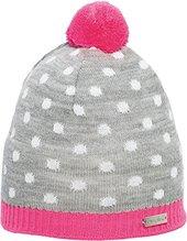 Eisglut Kinder Mütze Lotti Farbe grau/pink  15171k