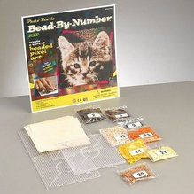Photo Pearls® Katze mit Zubehör, 3600 Bügelperlen