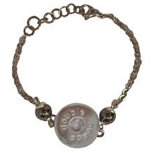 Armband mit 'Halterung für Druckknöpfe', Hämatit