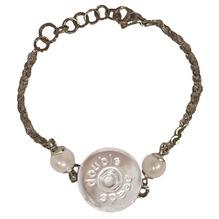 Armband mit 'Halterung für Druckknöpfe', Perlen