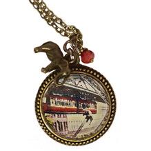 """Kette """"Tuffisprung"""" mit bronzenem Elefanten-Anhänger, 80 cm"""
