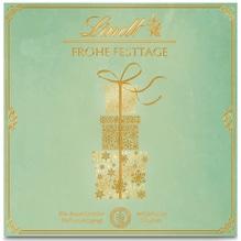 Lindt Emotionale Geschenke 'Frohes Festtage' grün, 80g