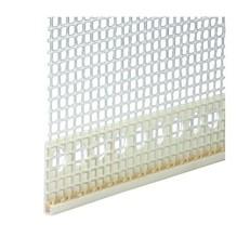 Abschlussprofil PVC mit Gewebe 15mm
