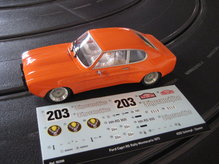 IS50306 SRC Ford Capri Montecarlo 1973 No. 203 Chrono Series Limited Edition Jägermeister