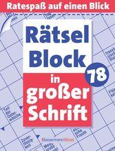 Rätselblock in großer Schrift. Bd.78 | Krüger, Eberhard