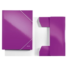 Leitz Eckspanner WOW 39820062 DIN A4 250Bl. Karton violett