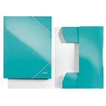 Leitz Eckspanner WOW 39820051 DIN A4 250Bl. Karton eisblau