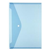 Herlitz Dokumententasche 10657948 DIN A4 Druckknopf PP blau