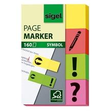 Sigel Haftmarker HN635 gelb, orange,grün,pink 4 x 40 Bl./Pack.