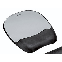 FELLOWES Memory Foam Mauspad mit Handgelenkauflage / Silberstreifen