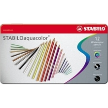 STABILO Farbstift aquacolor 1612-5 Metalletui sortiert 12 St./Pack.