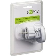 Goobay Reiseadapter 94026 Universal/Schutzkontakt CEE7/7 weiß