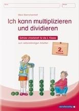 Ich kann multiplizieren und dividieren - Schülerarbeitsheft für die 2. Klasse zum selbstständigen Arbeiten | Langhans, Katrin