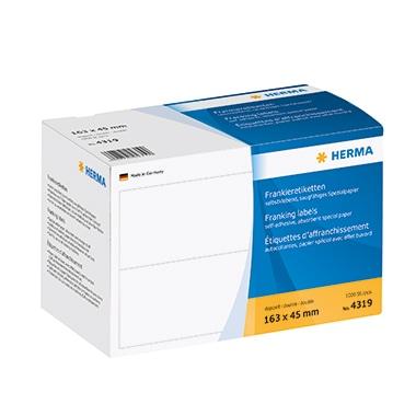 HERMA Frankieretikett 4319 163x45mm doppelt weiß 1.000 St./Pack.