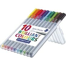 STAEDTLER Fineliner triplus 334 SB10 0,3mm sort. 10 St./Pack.