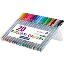 STAEDTLER Fineliner triplus 334 SB20 0,3mm sort. 20 St./Pack.