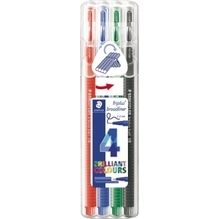 STAEDTLER Fineliner triplus Broad 338 SB4 0,8mm sort. 4 St./Pack.