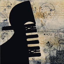 Venedig-Motiv, Druckgraphik/Radierung, VR 201, 48 x 48 cm