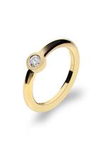 Verlobungsring und Antragsring mit  einem Brillant - Ring  in 585 Gelbgold -