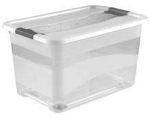 Kristallbox mit Rollen und Deckel - 52 Liter