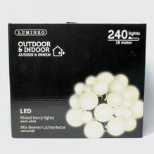 LED-Girlande 'Beeren' mit 240 Lichtern warm-weiß