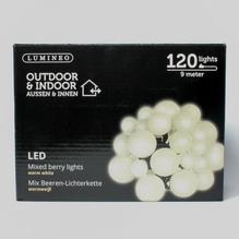 LED-Girlande 'Beeren' mit 120 Lichtern warm-weiß