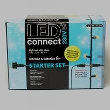 LED-Kette 'Connect' Start mit 100 Lichtern warm-weiß