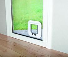 4-Wege Freilauftür, speziell für Glas