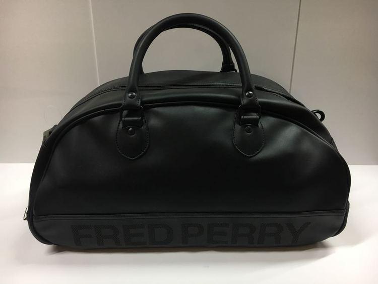 Fred Perry PVC/Tartan Mix Grip Bag black