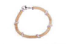 Armband bicolor mit weißen Zirkoniasteinen A48.20666