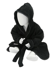 Babiezz Bathrobe with Hood (Black)