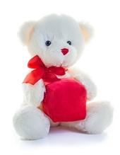 Heart/Gift Bear (White)