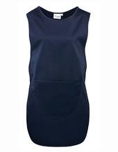 Womens Long Pocket Tabard (Navy (ca. Pantone 2766))