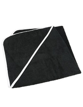 Baby Hooded Towel (Black)