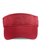 Low-Profile Twill Visor (Red)