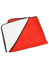 Baby Hooded Towel (Fire Red)