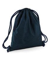 Graphic Drawstring Backpack (Navy Polka Dot)