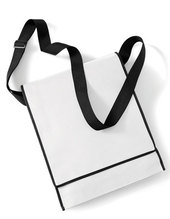 Budget Vertical Messenger Bag (White)