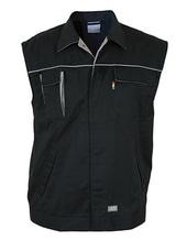 Contrast Work Vest (Black)