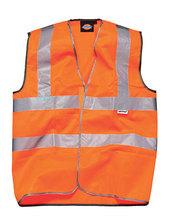 Sicherheitsweste mit Klettverschluss (High Visibility Orange)