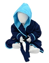 Babiezz Bathrobe with Hood (French Navy)